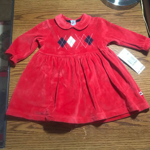 Tommy Hilfiger red holiday dress 3-6M NWT